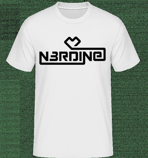 Nerdine - Shirtinator Männer T-Shirt - Weiß - Vorn
