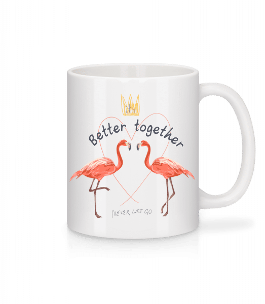Better Together Flamingos - Mug - White - Vorn