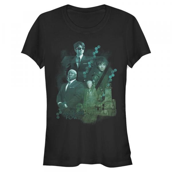 Group Gradient Group Shot - Disney Artemis Fowl - Women's T-Shirt - Black - Front