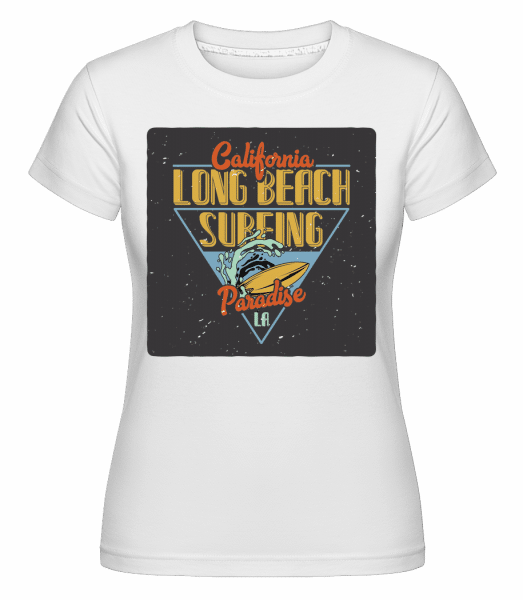 Long Beach Surfing -  Shirtinator Women's T-Shirt - White - Vorn