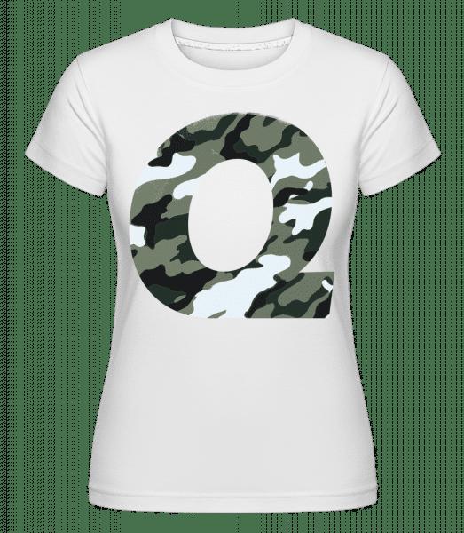 Queen Camouflage -  Shirtinator Women's T-Shirt - White - Vorn