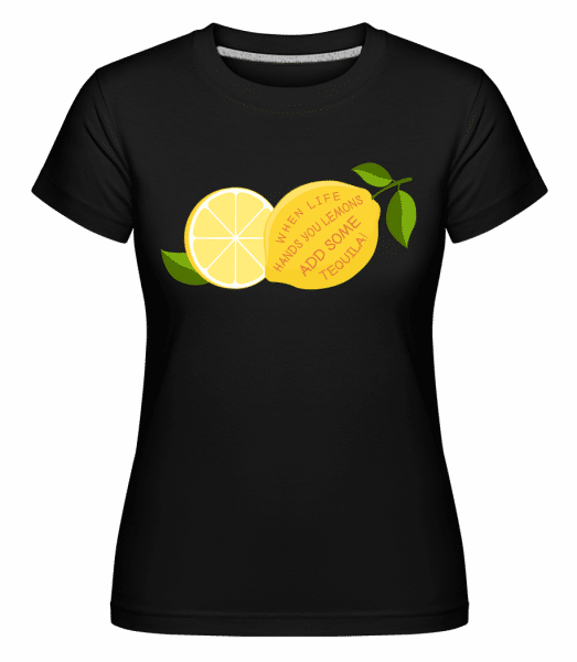 Lemon and Tequila -  T-shirt Shirtinator femme - Noir - Vorn