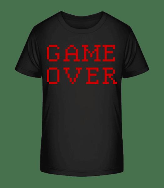 Game Over Pixel - Kid's Premium Bio T-Shirt - Black - Vorn