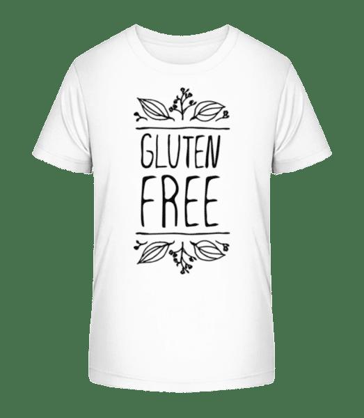 Gluten Free - Kid's Premium Bio T-Shirt - White - Vorn