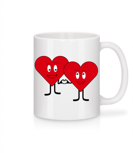 Two Hearts Love Each Other - Mug - White - Vorn