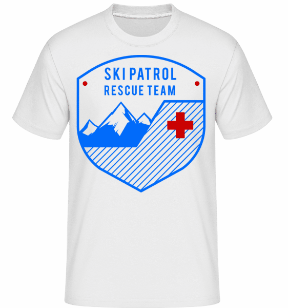 Skipatrol Rescue Team Icon -  T-Shirt Shirtinator homme - Blanc - Devant