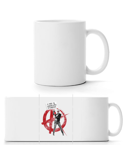 XMas Is Cancelled Fuckers - Panorama Mug - White - Front