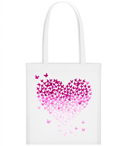Butterfly Heart - Carrier Bag - White - Vorn