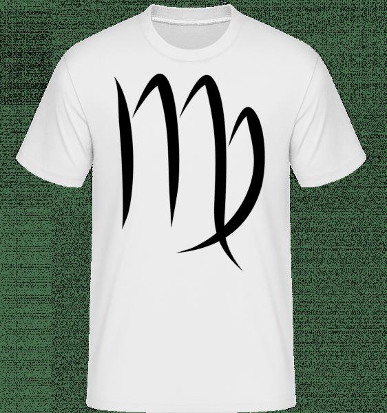 Jungfrau Zeichen - Shirtinator Männer T-Shirt - Weiß - Vorn