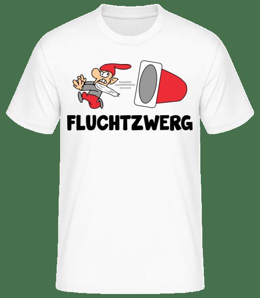 Fluchtzwerg - Männer Basic T-Shirt - Weiß - Vorn