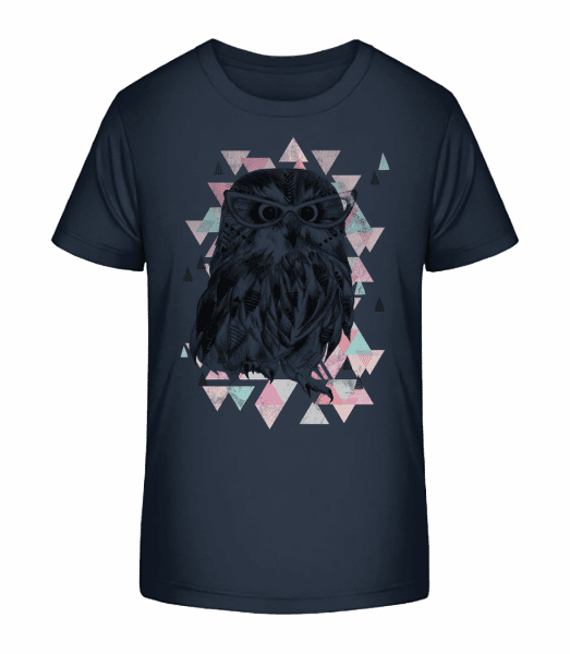 Hipster Owl - Kid's Premium Bio T-Shirt - Navy - Front