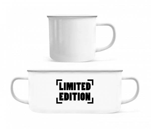 Limited Edition Logo - Emaille-Tasse - Weiß - Vorn