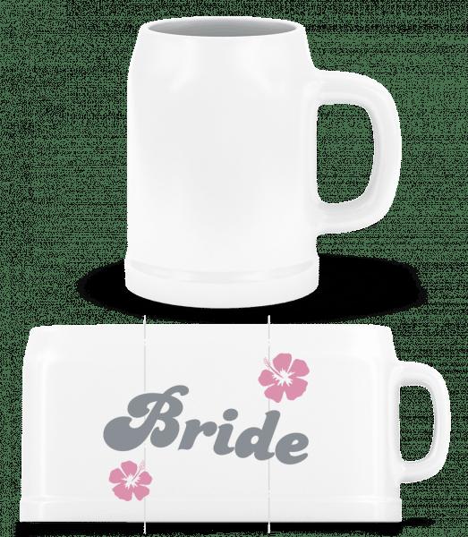 Bride - Beer Mug - White - Vorn
