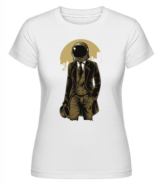 Classic Astronaut -  Shirtinator Women's T-Shirt - White - Vorn
