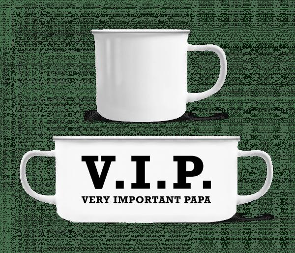 VIP PAPA - Enamel-cup - White - Vorn