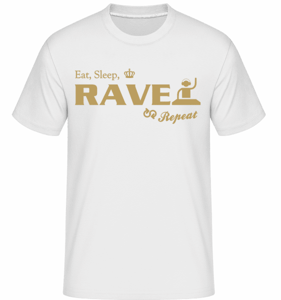 Eat Sleep Rave Repeat -  Shirtinator Men's T-Shirt - White - Vorn