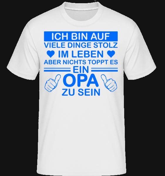 Stolzester Opa Der Welt - Shirtinator Männer T-Shirt - Weiß - Vorn