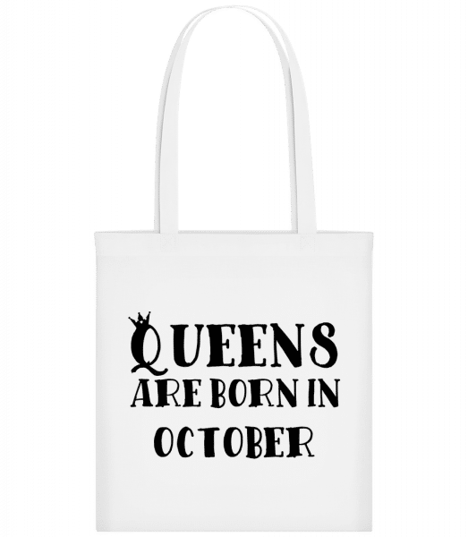 Queens Are Born In October - Taška Carrier - Biela - Predné