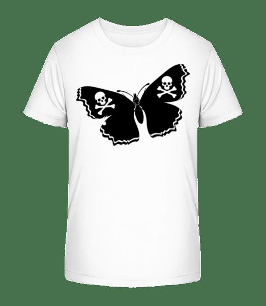 Skull Butterfly - Kid's Premium Bio T-Shirt - White - Vorn