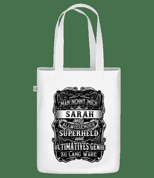 Man Nennt Mich Sarah - Bio Tasche - Weiß - Vorn