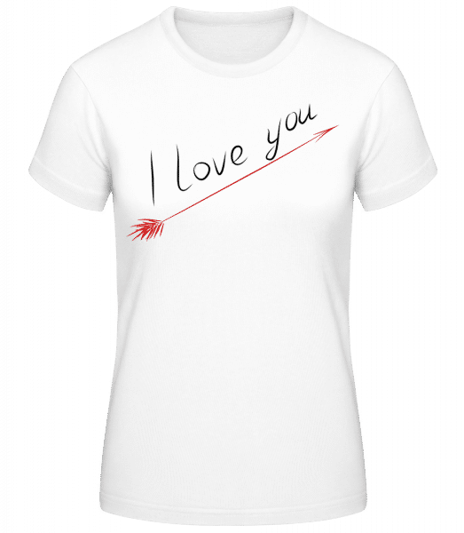 I Love You - Basic T-Shirt - White - Vorn