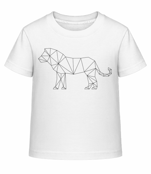 Polygon Lion - Kid's Shirtinator T-Shirt - White - Vorn