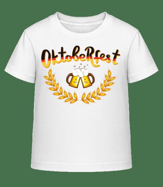 Deutschland Oktoberfest - Kid's Shirtinator T-Shirt - White - Vorn