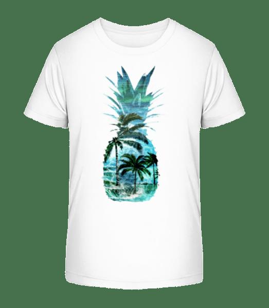 Pineapple Palms - Kid's Premium Bio T-Shirt - White - Vorn