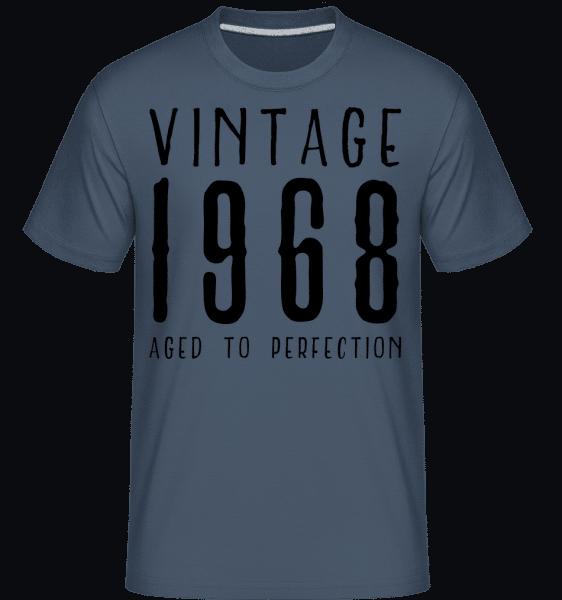 Vintage 1968 Aged To Perfection -  Shirtinator Men's T-Shirt - Denim - Vorn