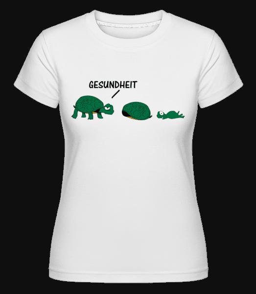 Gesundheit Schildkröte - Shirtinator Frauen T-Shirt - Weiß - Vorn