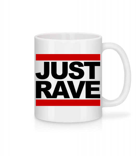 Just Rave Logo - Mug - White - Vorn