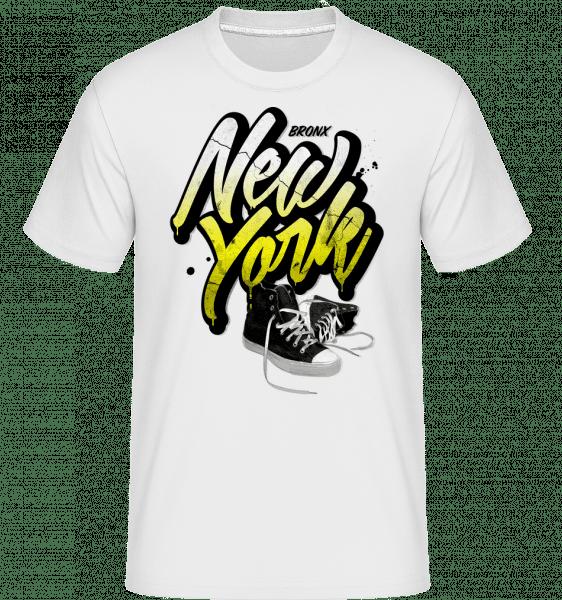 Bronx New York -  Shirtinator Men's T-Shirt - White - Vorn