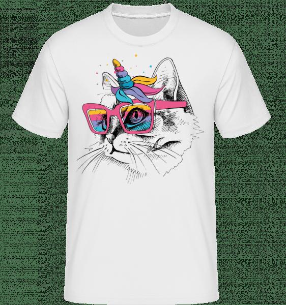Unicorn Party Cat -  Shirtinator Men's T-Shirt - White - Vorn