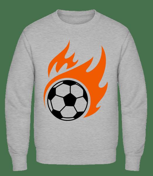 Football Flame - Classic Set-In Sweatshirt - Heather Grey - Vorn