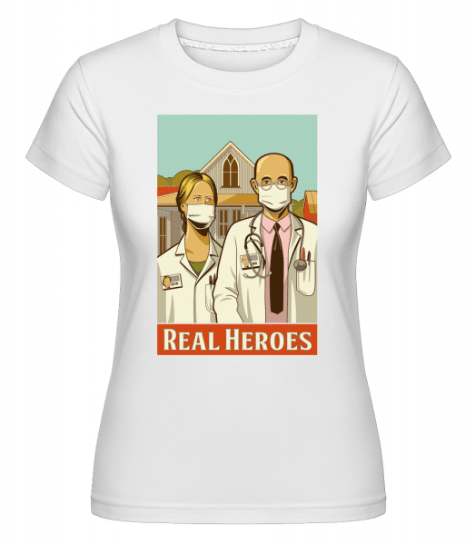 Real Heroes -  Shirtinator Women's T-Shirt - White - Vorn