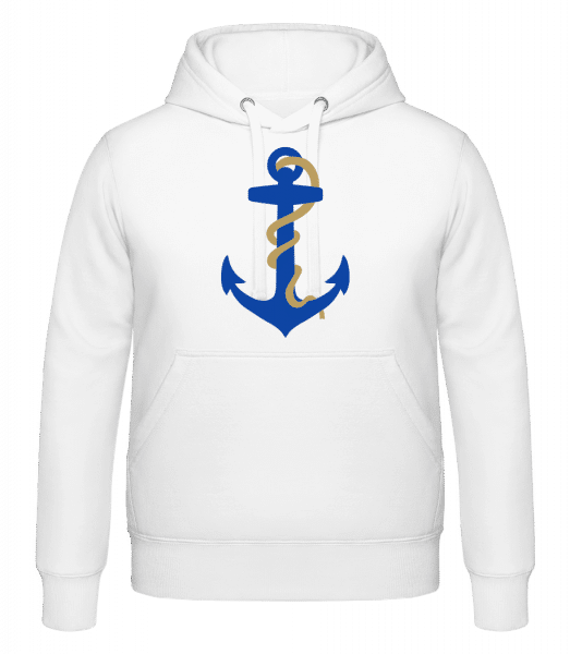 Anchor With Rope - Hoodie - White - Vorn