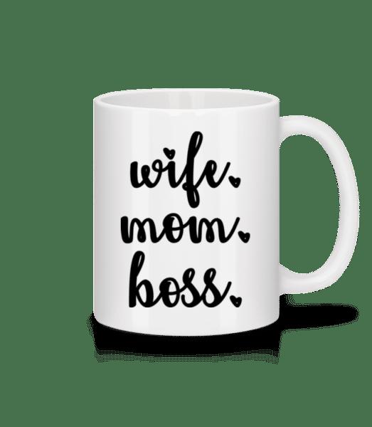 Wife Mom Boss - Mug - White - Vorn