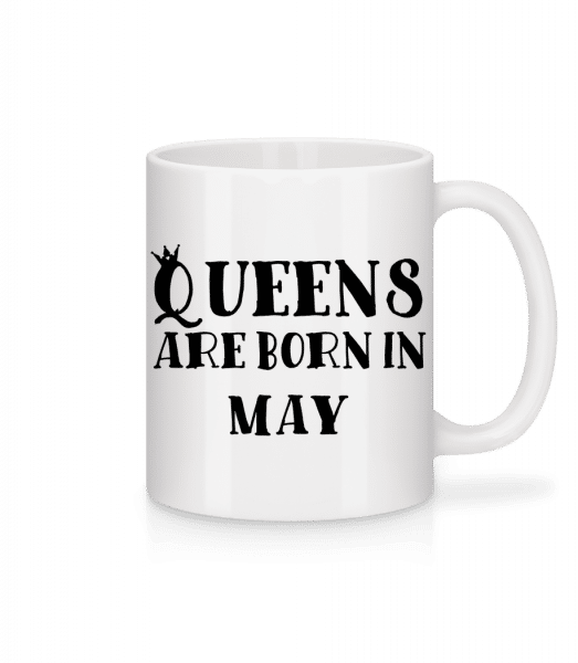 Queens Are Born In May - Mug - White - Front