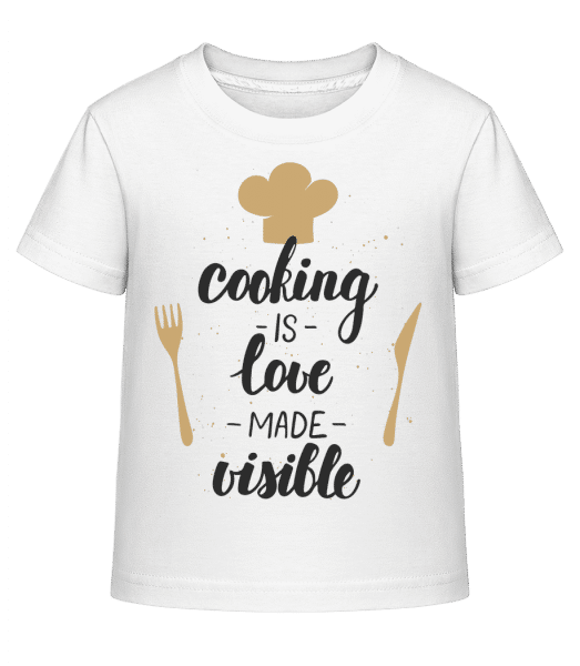 Cooking Is Love Made Visible - Kid's Shirtinator T-Shirt - White - Vorn