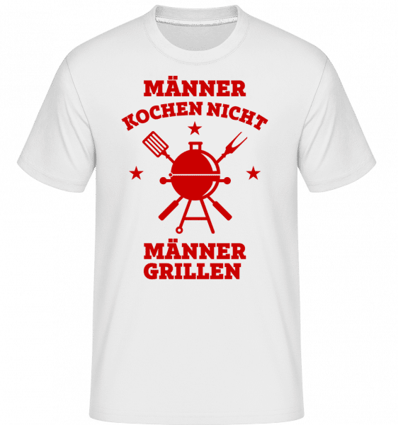 Männer Grillen - Shirtinator Männer T-Shirt - Weiß - Vorn