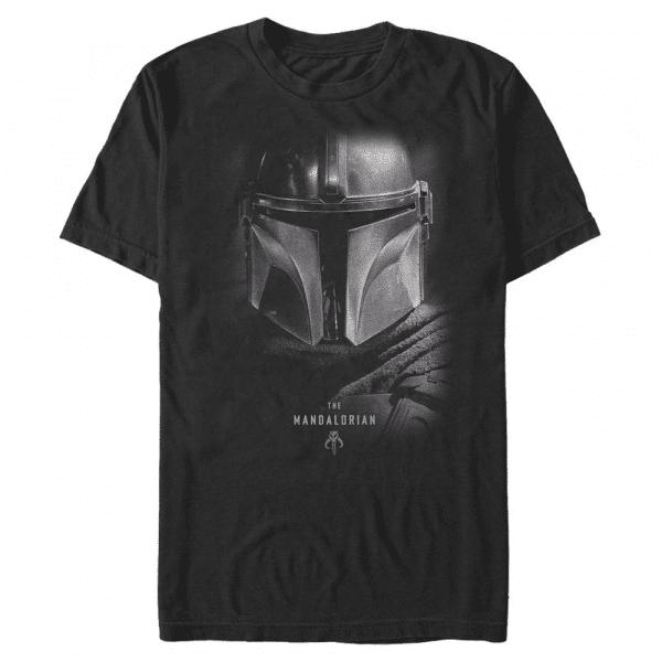 Hero Shot - Star Wars Mandalorian - Men's T-Shirt - Black - Front
