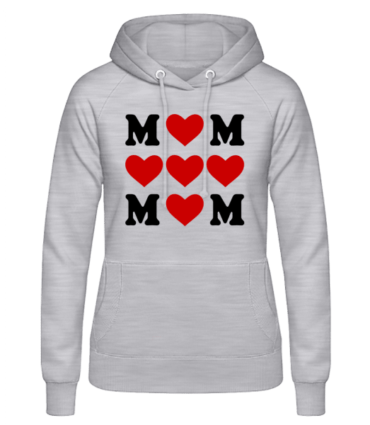 Love Mom Hearts - Women's Hoodie - Heather grey - Vorn