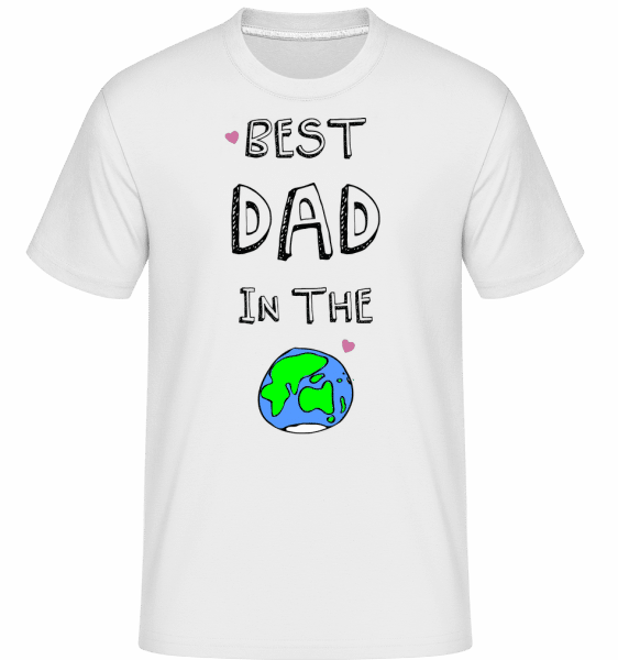 Worlds Best Dad - Shirtinator Männer T-Shirt - Weiß - Vorn
