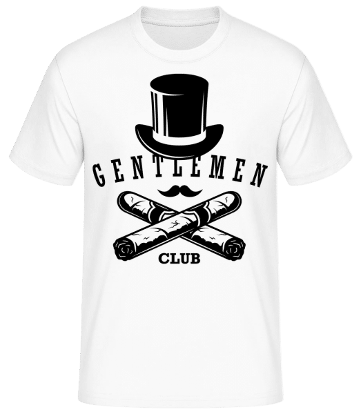 Gentlemen Club - Men's Basic T-Shirt - White - Vorn