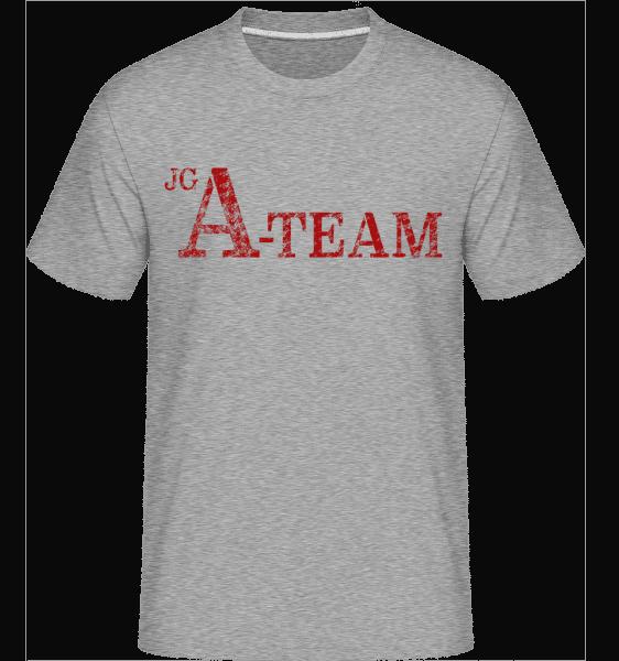 JGA Team - Shirtinator Männer T-Shirt - Grau meliert - Vorn