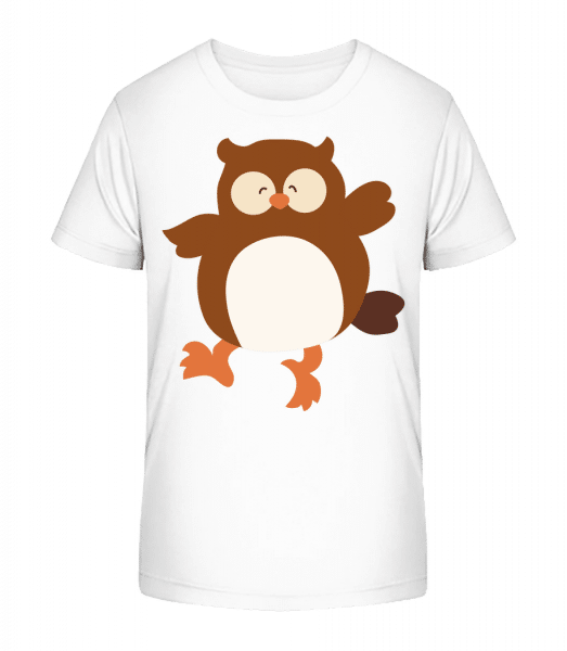 Kids Comic - Owl - Kid's Premium Bio T-Shirt - White - Vorn