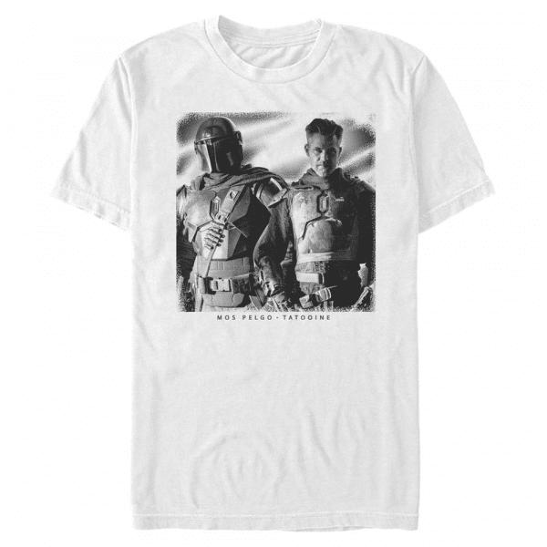 Heroes Mandalorian & the Marshal - Star Wars Mandalorian - Men's T-Shirt - White - Front