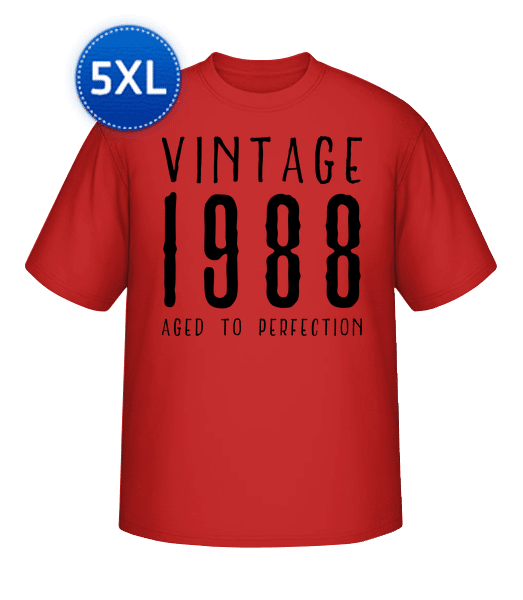 Vintage 1988 Aged To Perfection - Round-T from XL to 5XL - Red - Vorn