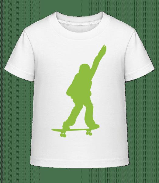 Skateboard Boy - Kid's Shirtinator T-Shirt - White - Vorn