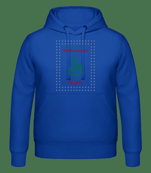 Weihnachten Und Neujahr - Männer Hoodie - Royalblau - Vorn